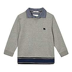 J by Jasper Conran - Boys' grey mock jumper