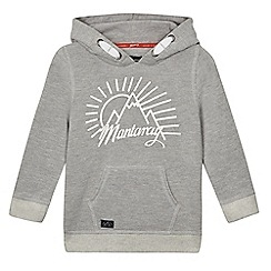 Mantaray - Boys' grey logo print hoodie