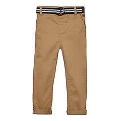 J by Jasper Conran - Boys' tan belted chinos