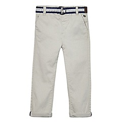 J by Jasper Conran - Boys' grey belted chinos