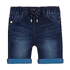 bluezoo - Boys' dark blue denim shorts