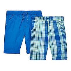 bluezoo - Pack of two boys' blue printed shorts