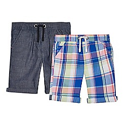 bluezoo - Pack of two boys' assorted printed shorts