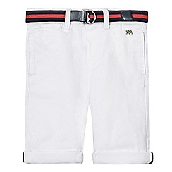 J by Jasper Conran - Boys' white upturned shorts