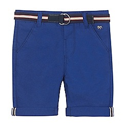 J by Jasper Conran - Boys' bright blue belted Oxford shorts