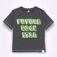 Boy's grey rock star printed t-shirt