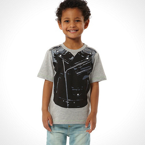 Star by Julien Macdonald - Designer boy+s grey biker jacket t-shirt