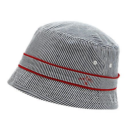 J by Jasper Conran - Designer boy+s navy striped bucket hat