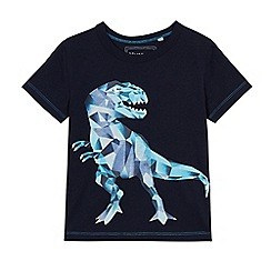 bluezoo - Boys' navy graphic dinosaur print t-shirt