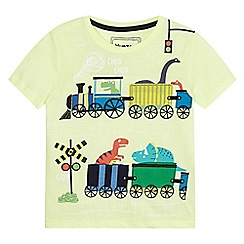 bluezoo - Boys' green dinosaur print t-shirt
