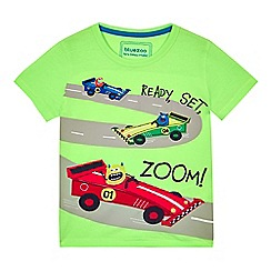 bluezoo - Boys' green racing monsters applique t-shirt