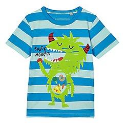 bluezoo - Boys' blue monster print t-shirt