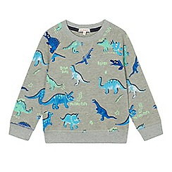 bluezoo - Boys' grey dinosaur print sweat