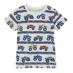 bluezoo - Boys' white truck print t-shirt