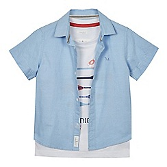 J by Jasper Conran - Boys' blue short-sleeved oxford shirt and t-shirt set