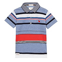 J by Jasper Conran - Boys' light blue striped polo shirt