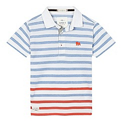 J by Jasper Conran - Boys' white and blue striped polo shirt