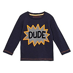 bluezoo - Boys' navy 'Dude' long sleeve shirt