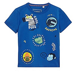 bluezoo - Boys' blue animal applique t-shirt