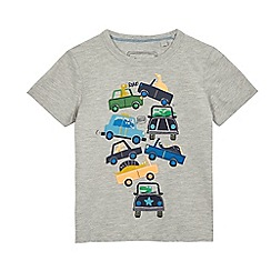 bluezoo - Boys' grey stacked cars t-shirt