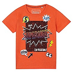 bluezoo - Boys' orange 'Superhero' slogan t-shirt