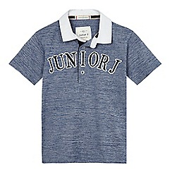 J by Jasper Conran - Boys' navy marl polo shirt