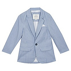 J by Jasper Conran - Boys' blue striped blazer