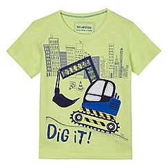 bluezoo - Boys' yellow 'Dig It' applique t-shirt