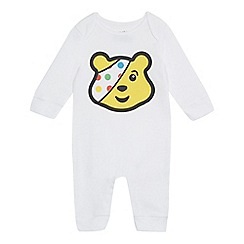 BBC Children In Need - Baby's white 'Children in Need' sleepsuit