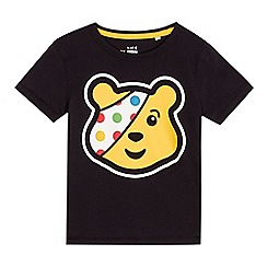 BBC Children In Need - Children's black 'Pudsey' print t-shirt