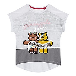 BBC Children In Need - Girls' white 'Children in Need' print t-shirt