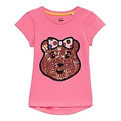 BBC Children In Need - Girls' pink 'Blush' sequin t-shirt