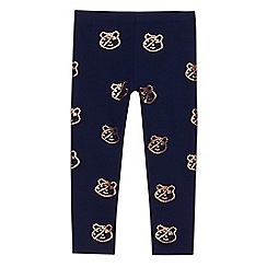 BBC Children In Need - Girls' navy 'Children in Need' leggings
