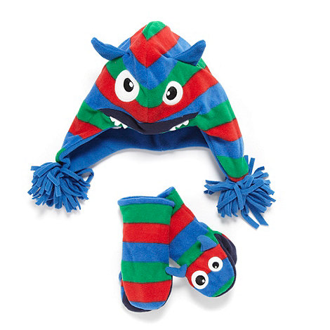 bluezoo - Boy+s blue fleece monster set