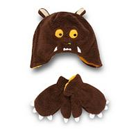 Boy's brown 'Gruffalo' hat and mittens