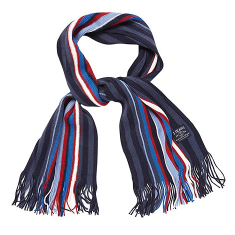 J by Jasper Conran - Designer boy+s blue striped scarf