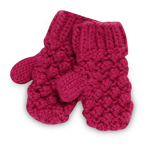 Baker by Ted Baker - Girl+s pink knit mittens