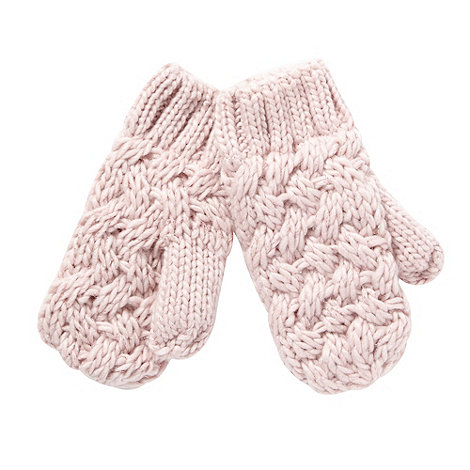 Baker by Ted Baker - Girl+s rose metallic chunky knitted mittens