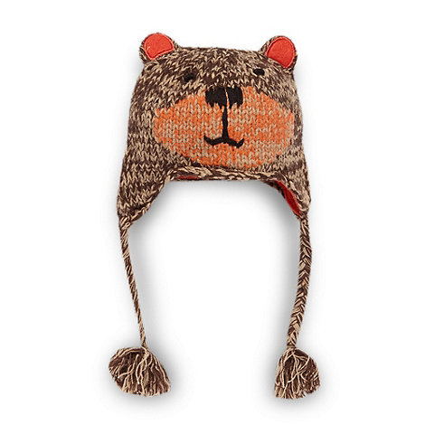 RJR.John Rocha - Designer boy+s brown bear trapper hat