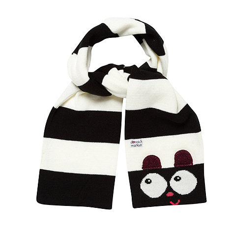 Donna & Markus by Markus Lupfer - Designer girl's black striped monster scarf