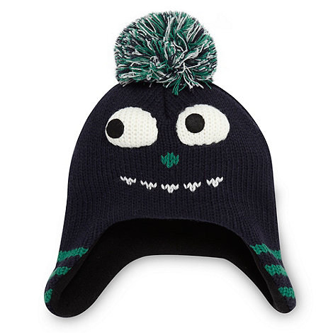 bluezoo - Boy+s navy novelty trapper hat