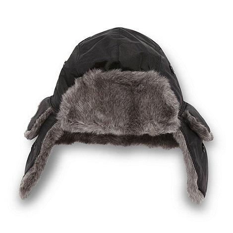 bluezoo - Boy+s black woven trapper hat