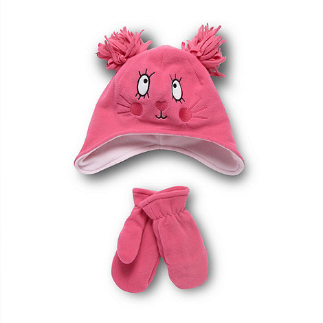 bluezoo - Pink hat and mittens set