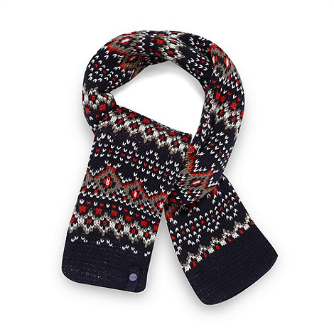 Baker by Ted Baker - Boy+s navy fairisle knit scarf