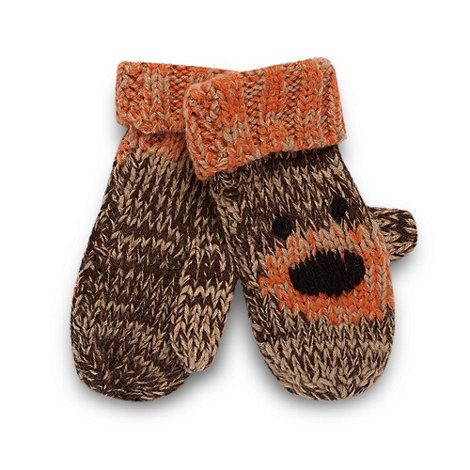 RJR.John Rocha - Designer boy+s brown bear mittens