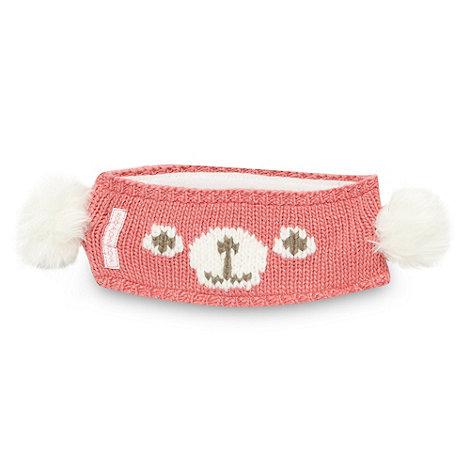 RJR.John Rocha - Designer girl+s pink bear knit headband