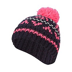 bluezoo - Girls' multi-coloured Fair Isle knitted beanie