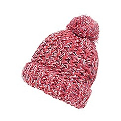 bluezoo - Girls' pink knitted pom pom beanie