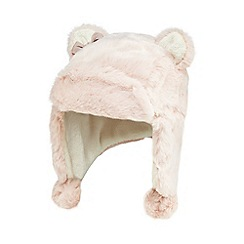 Baker by Ted Baker - Girls' pink faux fur trapper hat