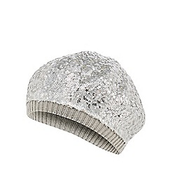 bluezoo - Girls' silver sequin beanie hat